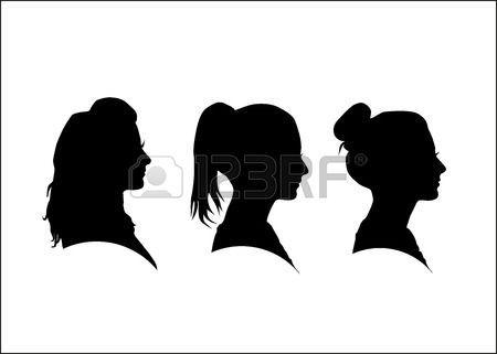 profilo viso donna: Sagoma della ragazza di profilo