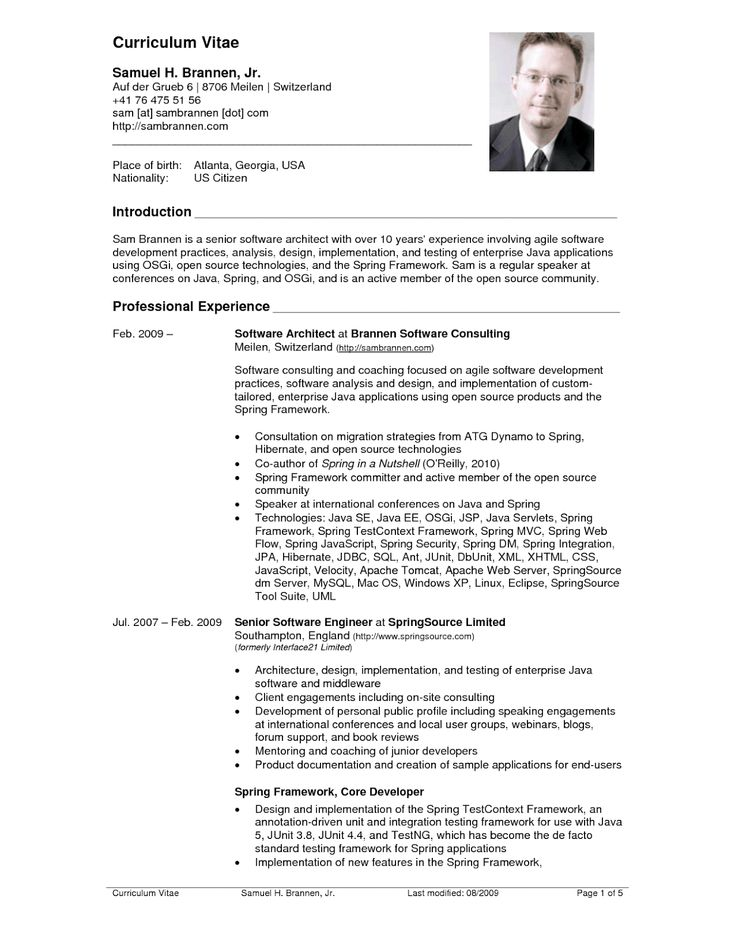 Resume Examples United States Architect resume sample