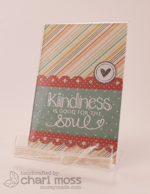 Kindness_Phoneholder1 by Chari Moss, via Flickr for neat and tangled