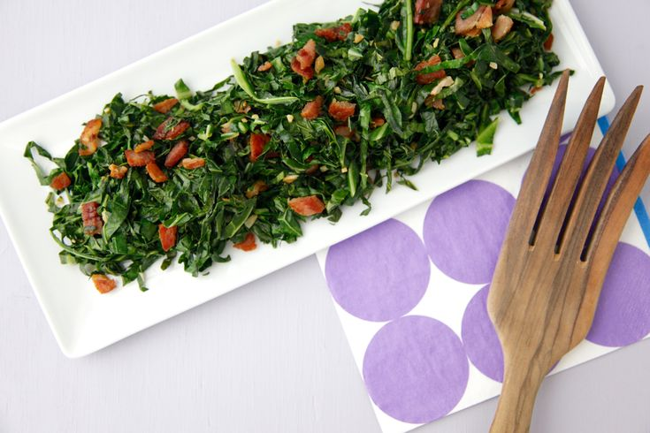 Sauteed Collard Greens With Bacon Recipe — Dishmaps