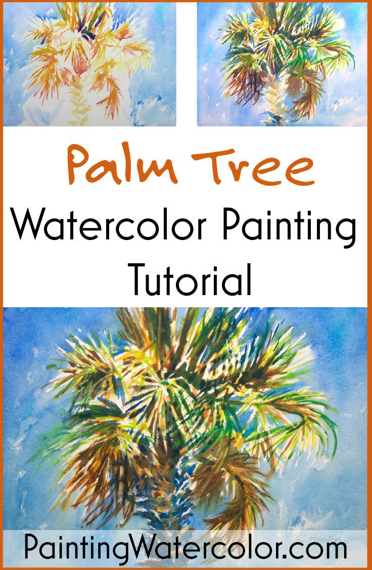Palm Tree Watercolor Painting Tutorial by Jennifer Branch  YouTube!