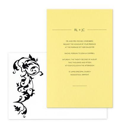 Divina Wedding Invitations  by Checkerboard
