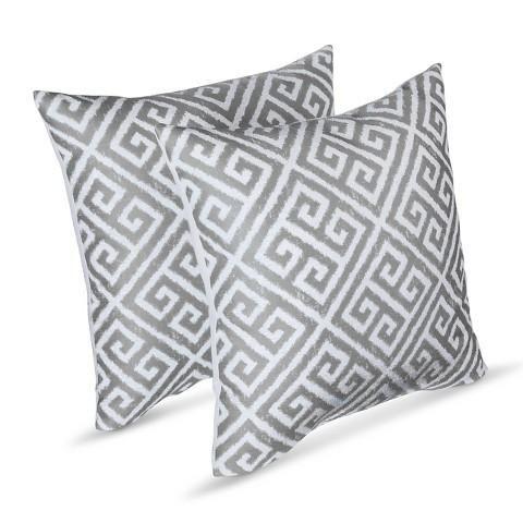 Threshold Two Pack Square Greek Key Pillows