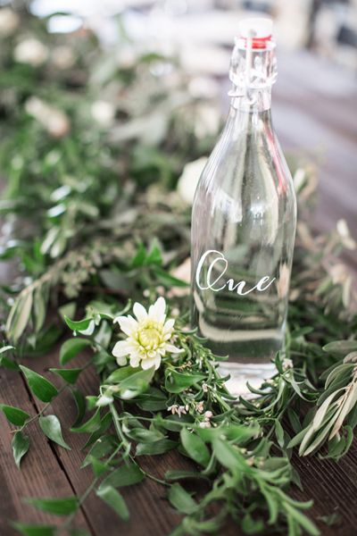 bottle table numbers | Watson Studios #wedding