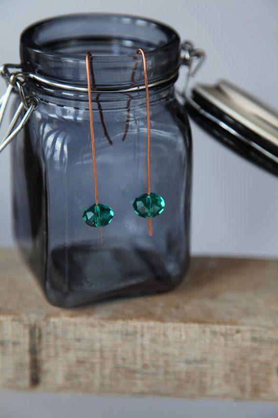 Shiny crystal glass unique handmade minimal copper by alfiyaV