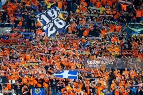 11-27 Apoel FC's fans cheer ahead of the UEFA Champions…... #vergina: 11-27 Apoel FC's fans cheer ahead of the UEFA Champions…… #vergina