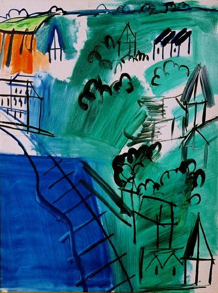 """""""I don't follow any system. All the laws you can lay down are only so many props to be cast aside when the hour of creation arrives""""  Raoul Dufy"""