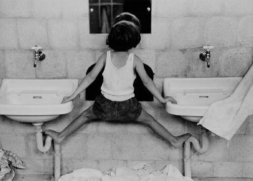 Ruth orkin sink undated should be a short girl meme · israelvintage photographyblack white