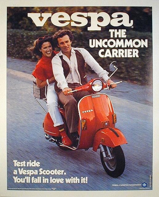 Vespa Italian Scooter Oh, yes, I remember a red Vespa! #vespa #italiandesign