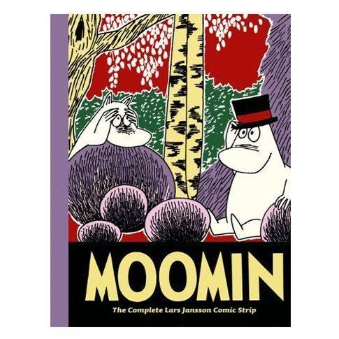 """Moomin Book 9: The Complete Lars Jansson Comic Strip welcomes readers back to the beloved world of Moominvalley, where pancakes and jam are a perfectly acceptable supper and a damsel in distress can live in a pre-fabricated castle. The ninth volume of Tove and Lars Jansson's classic comic strip features the beloved """"Fuddler and Married Life"""" story. Together, the four stories in this collection display the poignancy, whimsy, and philosophical bent that constitute the Moomins' enduring appeal."""