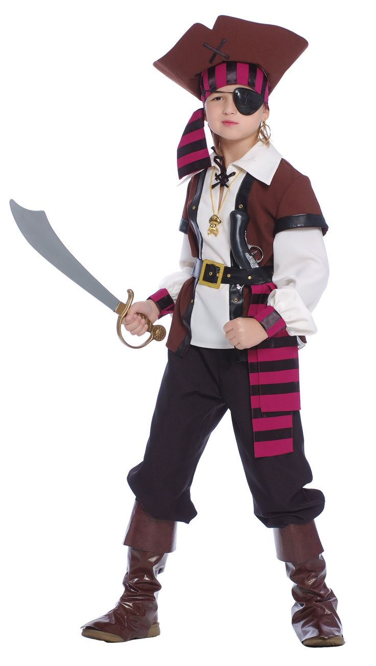 Disfarce Pirata dos 7 mares menino: Este disfarce de pirata dos sete mares para menino é composto de uma camisola, uma calças, um cinto, um lenço, cobre-botas e um chapéu ( pala, sabre, colar, brincos e...
