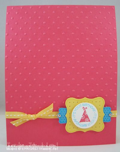 Stampin' Up! Birthday Card (plus how to make a matching mini card)Occasion Birthday, Cards Birthday, Birthday Cards