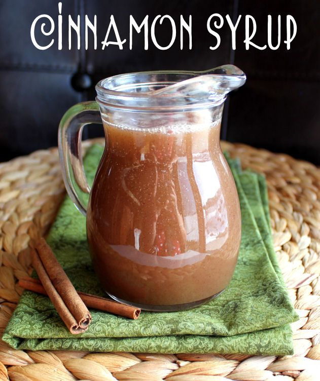 Cinnamon Syrup from Jamie Cooks It Up! The ingredients are fantastic so this syrup will rock!! Easy!