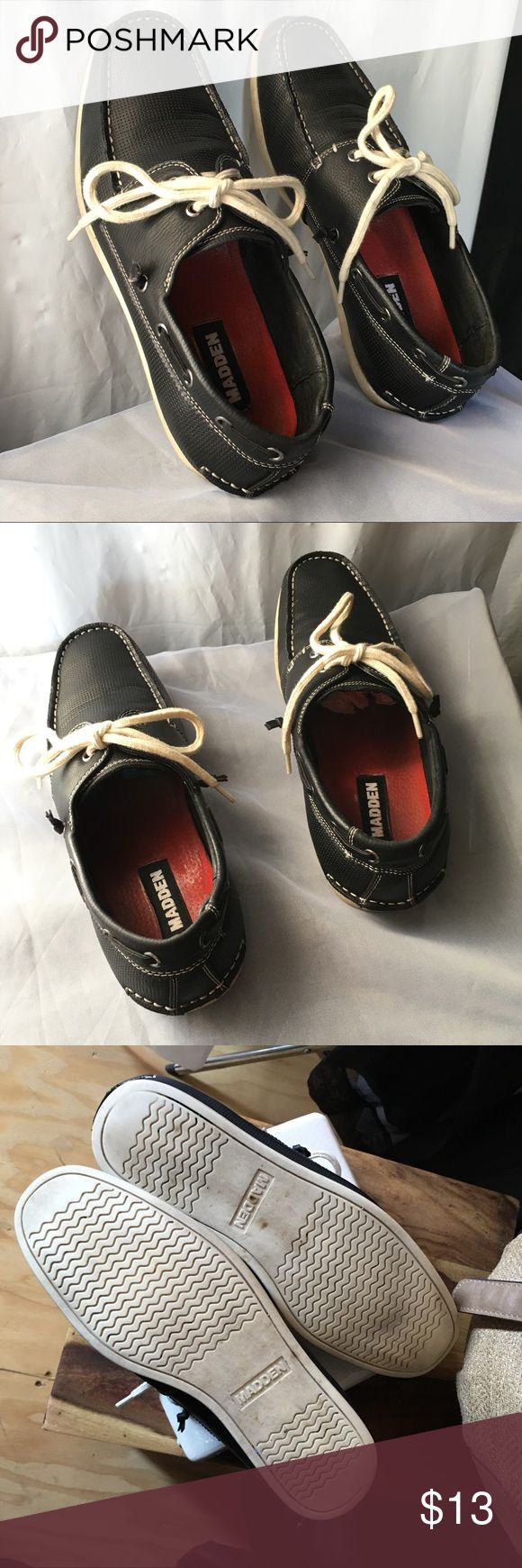 ♣️MADDEN SZ 9 ♣️MADDEN MEN SZ 9 . USED BUT SOLID. SPERRY STYLE BOAT LOAFERS Steve Madden Shoes Loafers & Slip-Ons