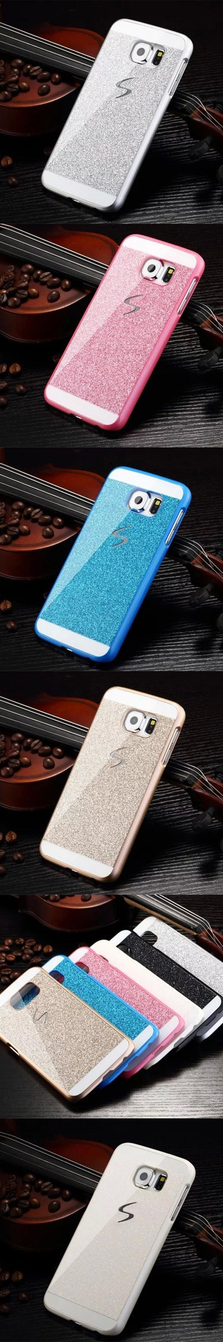 Hard Flash Plastic Cover Diamond Bling Crystal Capa Fundas Case For Samsung Galaxy S8/S8 PLUS/S7/S7 EDGE/S6/S6 EDGE/S6 EDGEPLUS