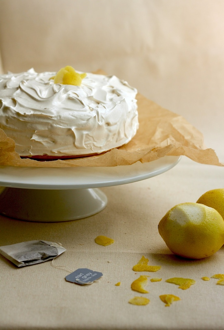 2-Layer Lemon Cake w/Earl Grey Tea Frosting