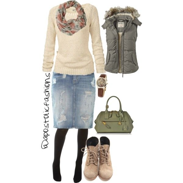 Apostolic Fashions #525 by apostolicfashions on Polyvore featuring Fat Face, Current/Elliott, Wolford, Marc Jacobs and Miss Selfridge