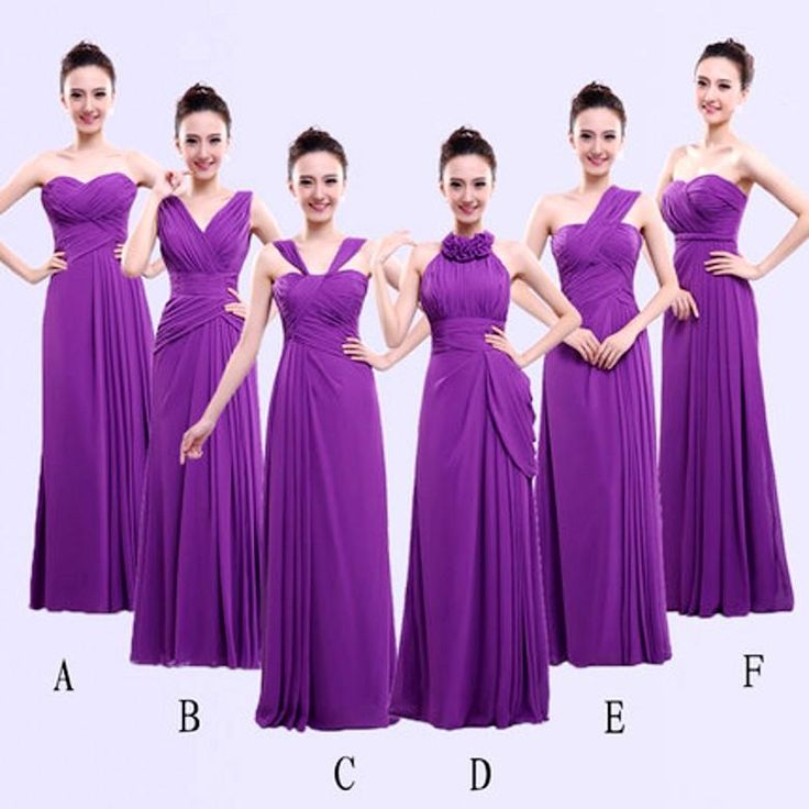 Different Styles Long Bridesmaid Dresses For Cheap Chiffon Purple Wedding Party Accessories Formal Gown A Line Maids Wear Wwl Chic Bridesmaid Dresses Classic Bridesmaid Dresses From Vestidobridal, $95.29| Dhgate.Com