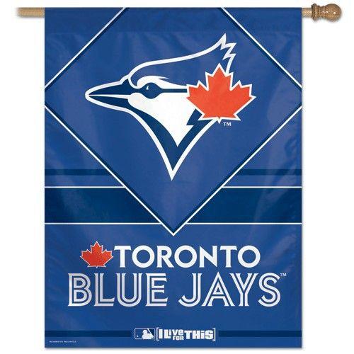 Toronto Blue Jays Banner | Toronto Blue Jays Vertical Banner  #torontobluejays #bluejays #aleastchamps #bluejaysbanner  Purchase Here: http://www.mysportsdecor.com/toronto-blue-jays-banner.html