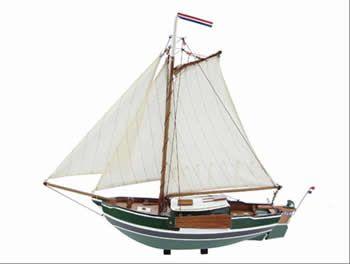 Zeilboot Zeeschouw 52 x 45 cm»Zeilboten»Modelschepen»Modelschepen & nautische woonaccessoires»4uboot.nl