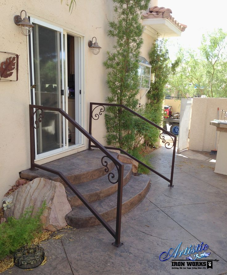 Affordable Exterior Wrought Iron Stair Railings With Wrought Iron Railings  For Stairs Exterior