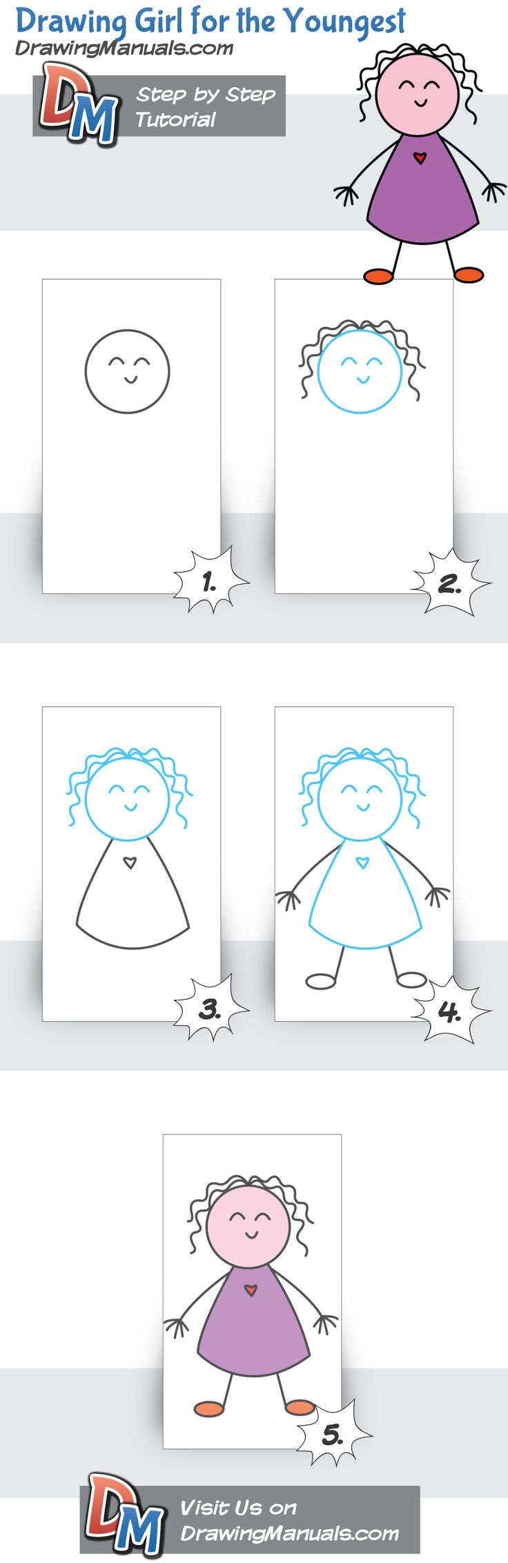 Drawing Girl for the Youngest http://drawingmanuals.com/manual/drawing-girl-for-the-youngest/