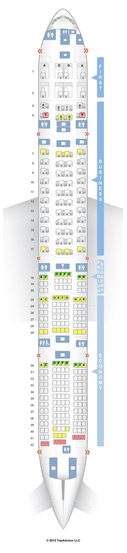 Best 25 boeing 777 300 seating ideas only on pinterest for Plan cabine 777 300er