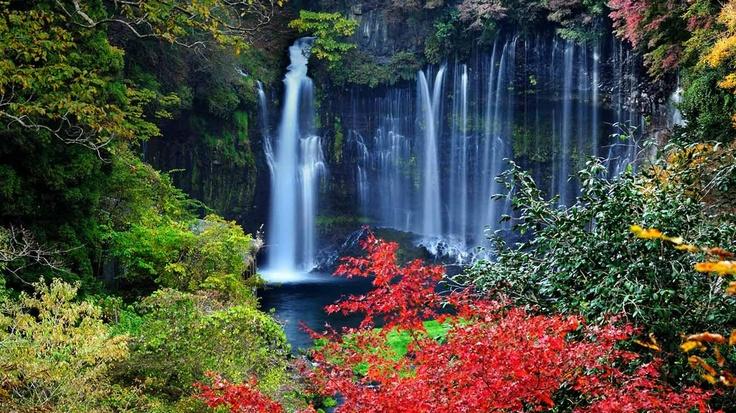 Shiraito Waterfall, Shizuoka Japan. 静岡 富士宮市、白糸の滝