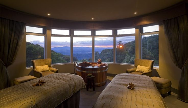 Vinotherapy Hot Tub at O'Reilly's Rainforest Retreat. - nooks & cranny