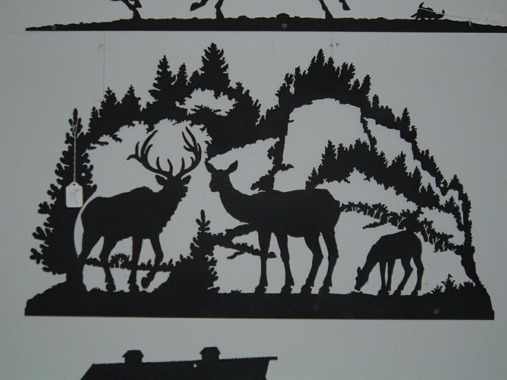 Elk And Mountain Scene Great Addition To A Log Cabin