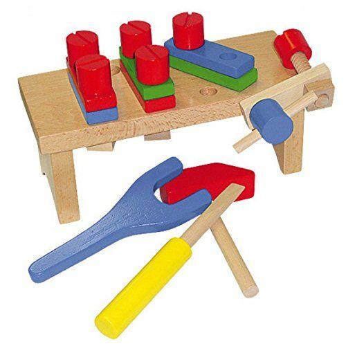 BELUGA Werkzeugbank für Kinder Holz mit Zubehör Werkbank Werkzeug NEU