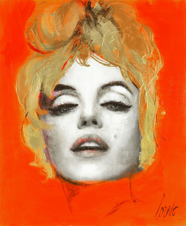 Intoxicating. Marilyn's face with her low eyes and and orange background