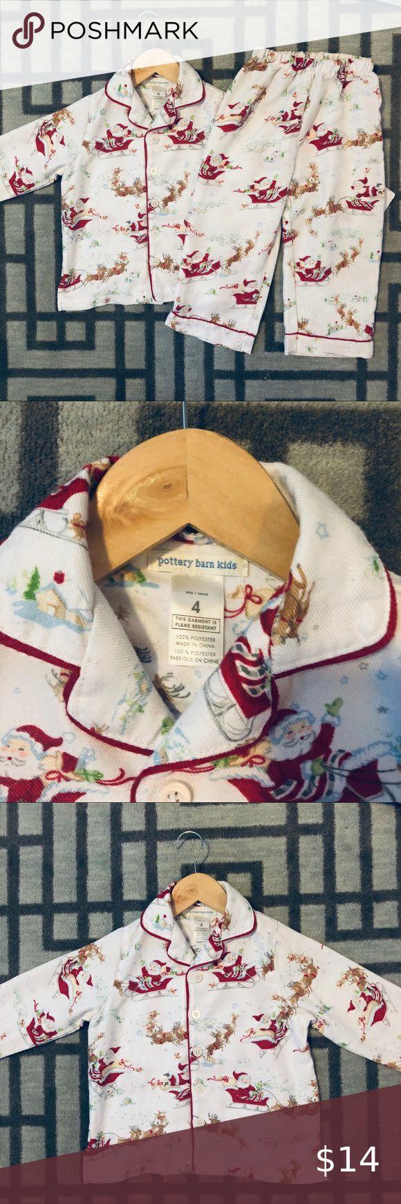 Pottery Barn Christmas Pajamas set size 4🥰 in 2020