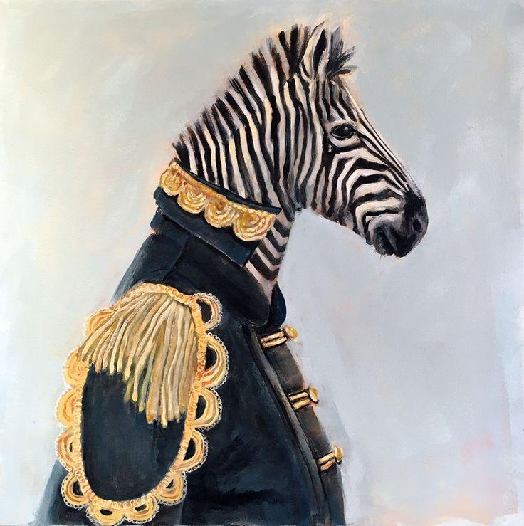'Captain Stripes' - Oil on Canvas - AVAILABLE