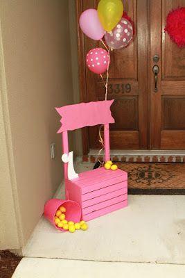 Cute setup for birthday photos