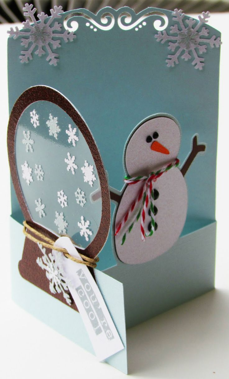 950 best christmas cards images on pinterest christmas cards wow another look at that snowmansnowglobe card trifold window card solutioingenieria Image collections