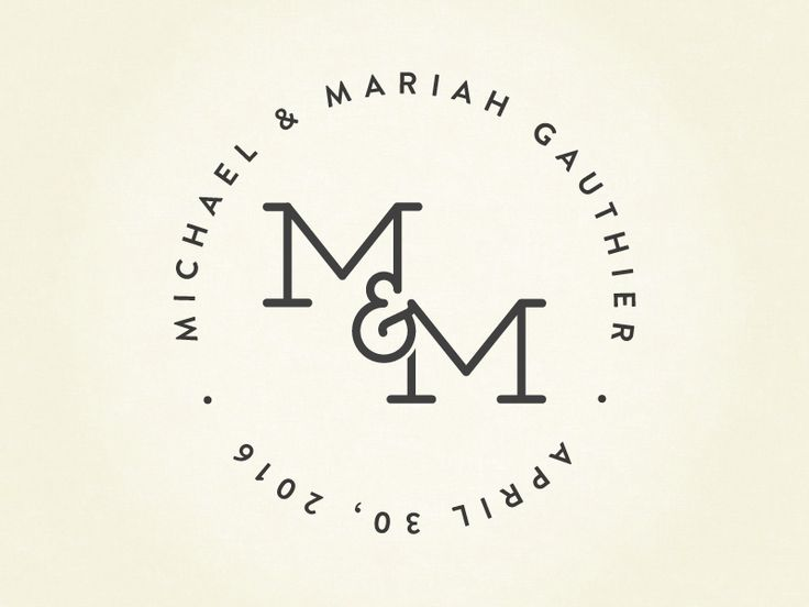 M&M Wedding Logo                                                       …