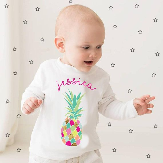 Tropical Funky Pineapple long sleeved top  personalised top