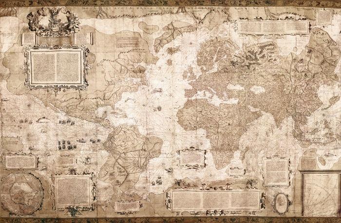 Mappa del mondo  - Anonimo   - STAMPA SU TELA € 40,05