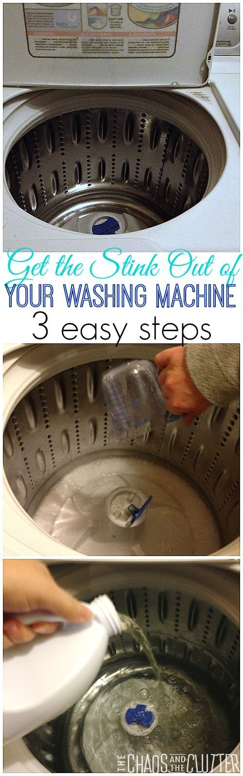 Does your washing machine stink? Get rid of the smell in 3 easy steps.