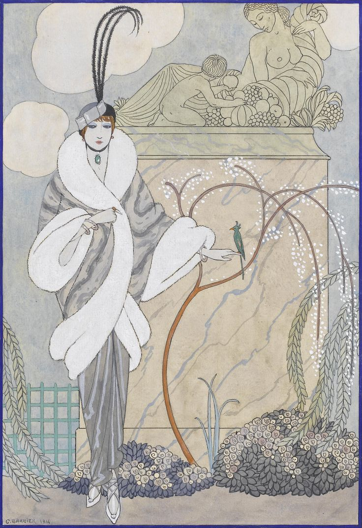 ๑ Nineteen Fourteen ๑ historical happenings, fashion, art & style from a century ago - 1914 fashion design by George Barbier