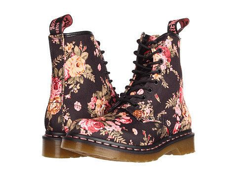 Floral Docs to tromp around puddles in.