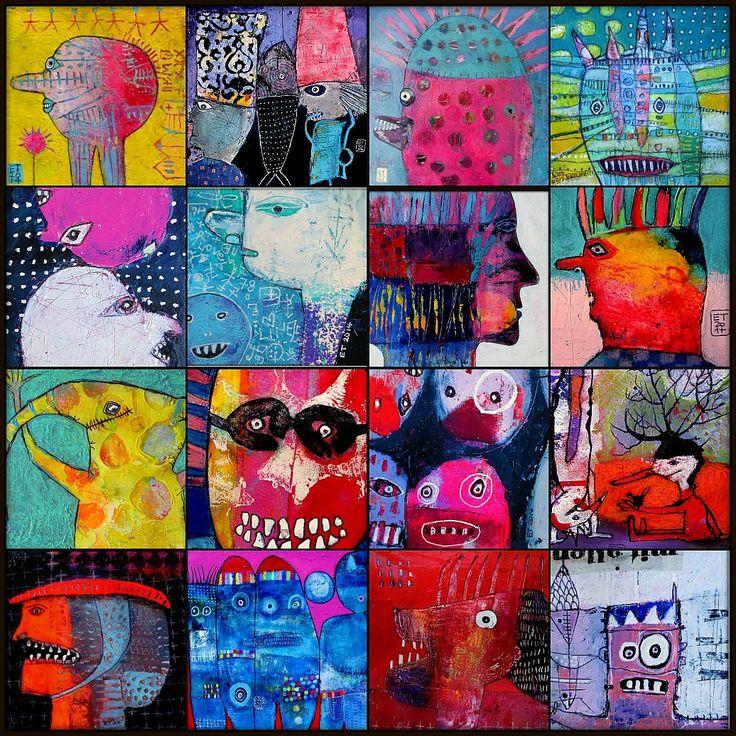 Collage of various works by Elke Trittel