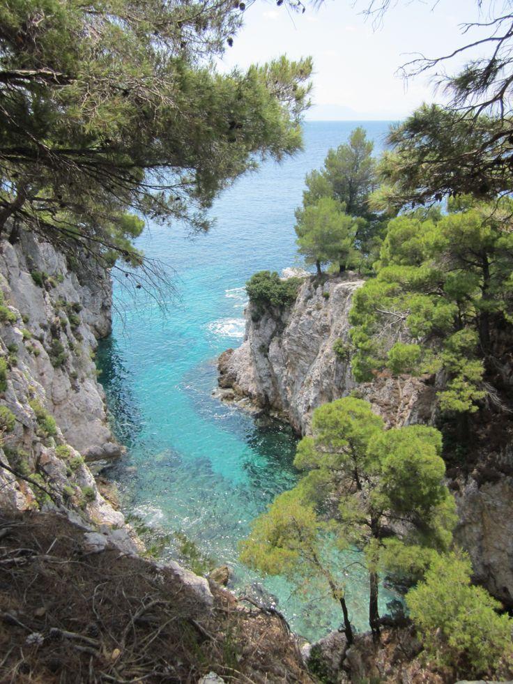 The cavern of the legendary dragon at Drakontoschisma http://skopelosweb.gr/en/skopelos/article/to_drakontoschima