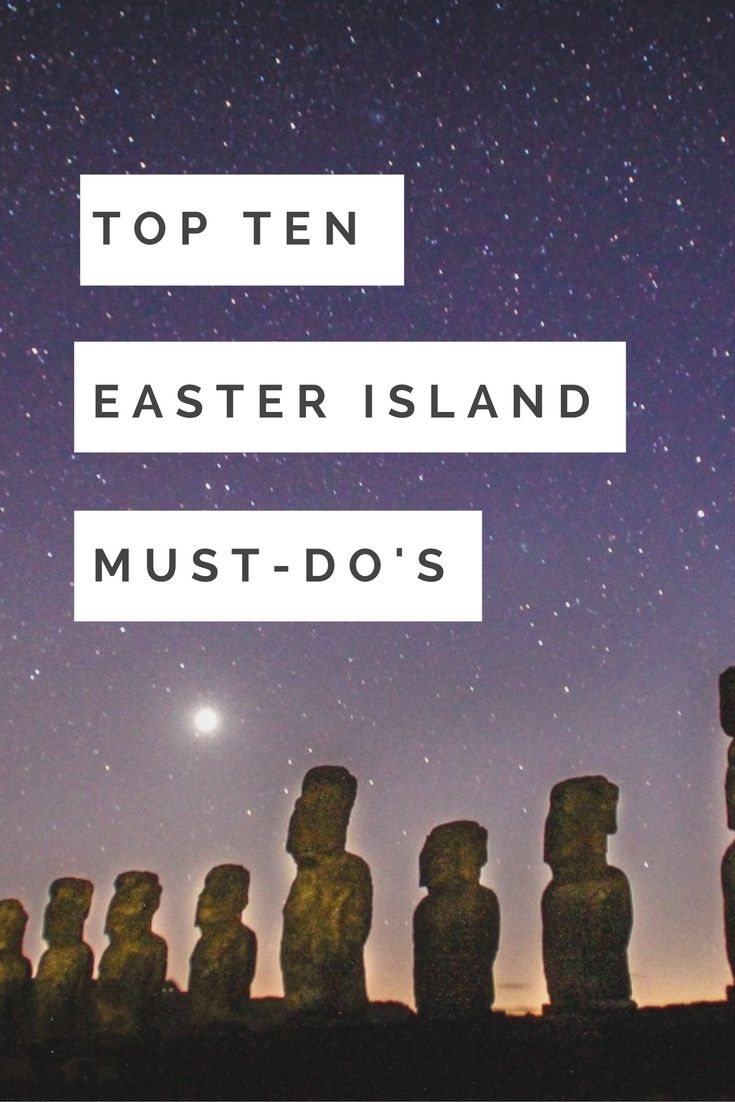 Easter Island Travel Guide - Top Things to do In Easter Island Chile. Isla de Pascua / Rapa Nui! UNESCO easter island statues moai. Easter Island on a budget. Places you have to go in South America. Best places to see in Chile. Rano Kau Crater, Anakena beach, Ahu Tongariki, Ahu Tahai, scuba dive with moai, Rano Raraku, quarry of the Moais. South America Bucket list dreams  ☆☆ Travel Guide / Ideas by #Inspiredbymaps ☆☆