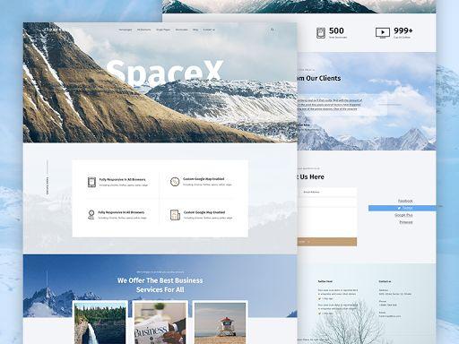 SpaceX Website Design
