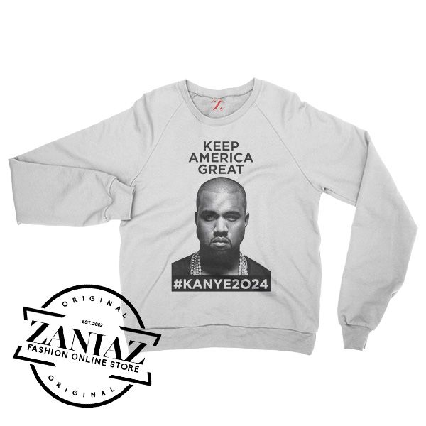 Keep America Great Kanye West 2024 Sweatshirt Crewneck Size S 3xl Sweatshirts Kanye West T Shirt