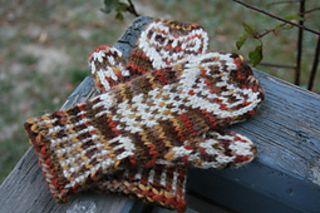 Owl mittens - free pattern