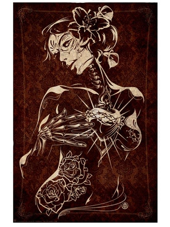 Our Lady of Fatima Tattoo Art Poster Print with Sexy Lowrider Day of the Dead Elements. Fatima art by Tonymash #Inked…   my fave lowrider magazine arte   Pinte…