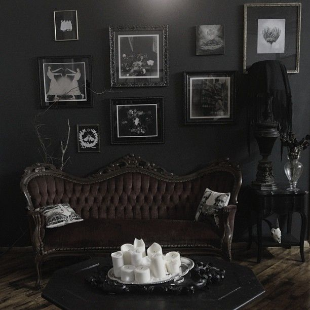 Dark Gothic Living Room